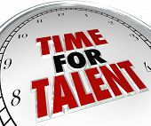 Time for Talent Clock Searching Job Skills Candidate Applicant