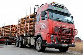 Volvo Fh Timber Truck With Full Load