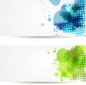 Two Watercolor Banners