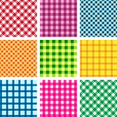 collection of vector tablecloth seamless backgrounds