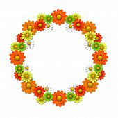 Wreath From Bright Flowers