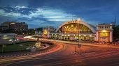 The Classic Railway Station Of Thailand (hua Lamphong Twilight In Bangkok)