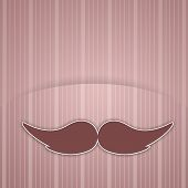 Mustache for Father's Day background