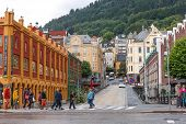 Cityscape of Bergen, Norway
