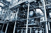 foto of gas-pipes  - oil industrial close - JPG