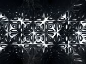 Silver metal abstract tile pattern background 3d Illustration