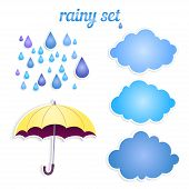 set of icons for your rain.