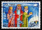 Postage Stamp Iceland 1997 Magi, Christmas