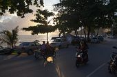 Patong - May 01: Thai Womans Riding On Motorcycles