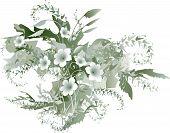 Zarte Grisaille-Blumen
