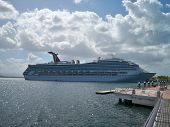 Carnival Liberty in port at San Juan, Puerto Rico