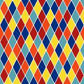 Harlequin parti-coloured seamless pattern