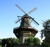 Huge, Historic Mill In Sanssouci Park, Berlin, Germany