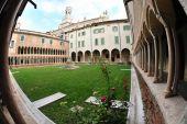 Cloister Of Romanesque Cathedral Santa Maria Matricolare, Verona, Italy