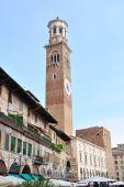 Torre Dei Lamberti In Piazza Erbe, Verona, Italy, Europe poster