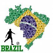 Soccer Ball Shape Of Brazil Map