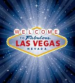 vector las vegas sign over the night star burst