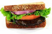 Vegetarian Sandwich With Grilled Mushroom.