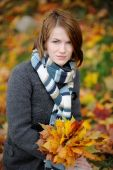 Young Beautiful Autumn Lady