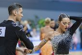 Minsk-belarus, February, 9: Unidentified Dance Couple Performs Adult Latin-american Program On Ogni