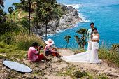 Clifftop Wedding Photo Shoot