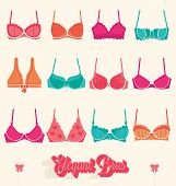 Vector Set: Retro Bras and Bustiers