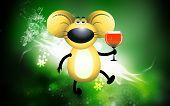 Rat and wine