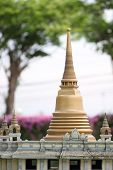 Golden Pagoda In Religion Buddhism.