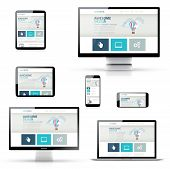Isolated Set of Responsive Website Designs in Electronic Devices