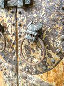 Door-handle Decoration Detail Of Old Metal Iron