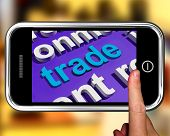 Trade In Word Cloud Phone Shows Online Buying And Selling