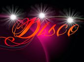 Groovy Discos Means Dancing Party And Music