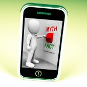 Fact Myth Switch Shows Facts Or Mythology