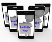 Available Now Sign Phone Shows Open Or In Stock