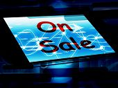 On Sale Screen Shows Promotional Savings Or Discounts