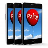 Party Balloon Phone Represents Parties Events And Celebrations