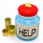 Help Jar Means Finance Aid Or Assistance