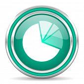 diagram green glossy web icon