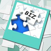 Biz Photo Means Internet Company Or Commerce