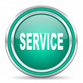 service green glossy web icon