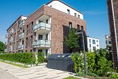 New apartment house in Hamburg