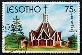 Postage Stamp Lesotho 1980 University Chapel, Roma, Christmas