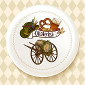 Oktoberfest Beer Set on a white plate