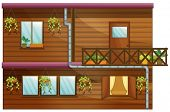 Illustration of a wooden house