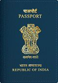 vector Indian passport cover