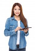 Woman use digital tablet