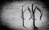 Wooden Background Flip-flops