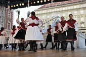ZAGREB, CROATIA - JULY 19: Folk group Mississauga, Ontario, Croatian parish folk group Sljeme from C