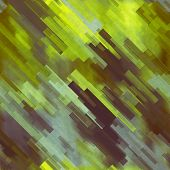 art abstract geometric diagonal pattern background in green, yellow, brown and blue colors