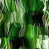 art abstract colorful chaotic waves seamless pattern background with green, black and white colors